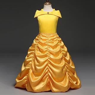 Cold Shoulder Zipper Back Floor Length Princess Dress