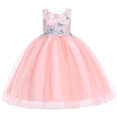 Butterfly Appllique Sleeveless Tulle Princess Dress