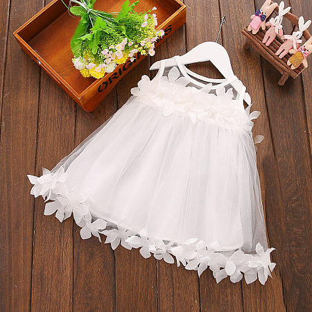 Petals Applique Tulle Sleeveless Dress