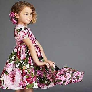 Allover Flower Print Short Sleeve Round Neck Dress