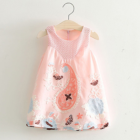 Girls Embroidered Sweet Daily Dress