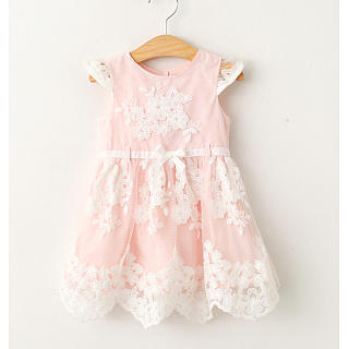 Girls Sweet Applique Dress