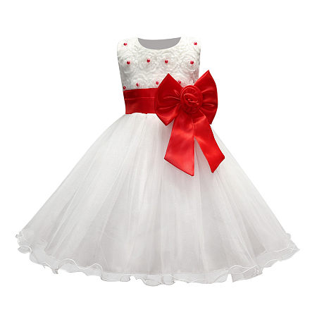 Beads And Bowknot Embellished Tulle Princess Dress