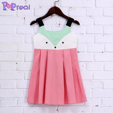 Cute Fox Girls Summer Cami Dress