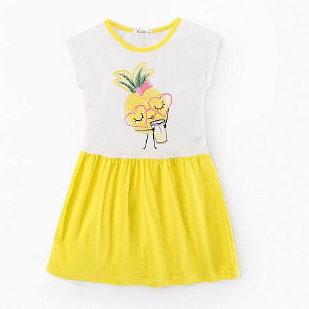 Pineapple Print Girls Summer Dress