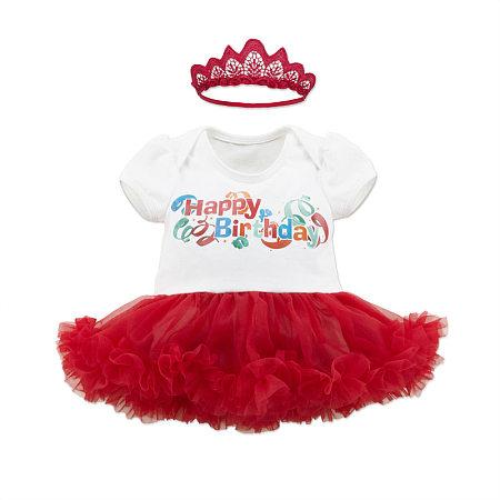 Adorable Birthday Tutu Dress With Hairband