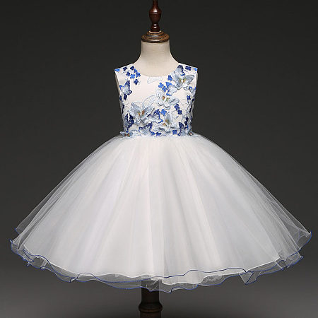 Butterfly Appliques Tulle Princess Dress