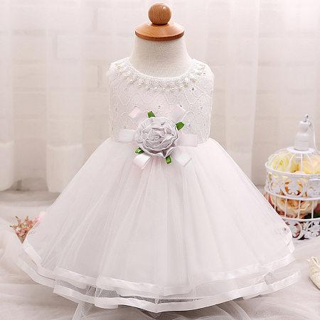 Pearl Decorated Flower Princess Dress