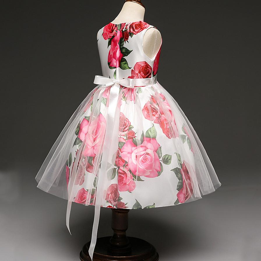 Flower Prints Princess Dress