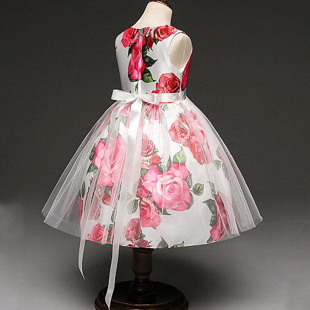 Buy Flower Prints Princess Dress, pink, DY17110310 for $19.79 in Popreal store