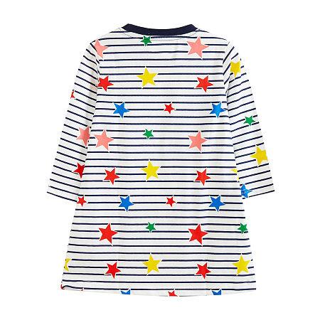 Cartonn Colorful Stars Stripes Dress