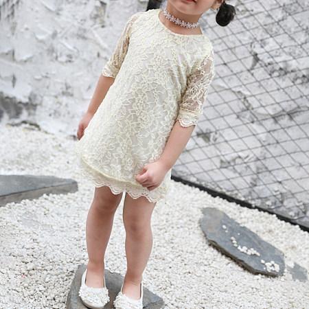Five-Point Sleeve Lace Princes Dress