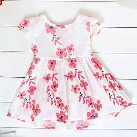 Floral Print Girls Summer Dress