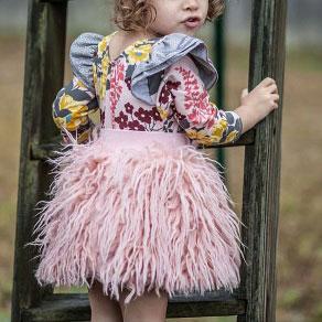 Solid Pink Elastic Waist Skirt