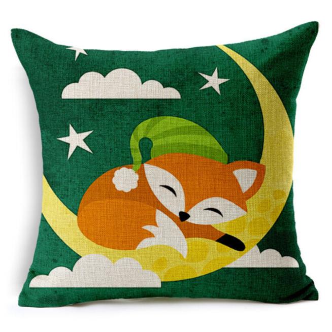 Sleep Fox Pattern Pillowcase Without Pillow Core