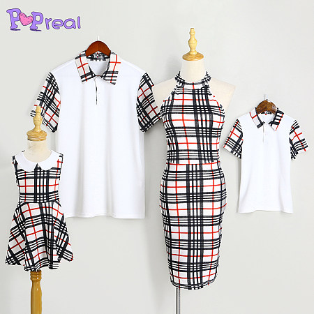 Plaid Color Block Family Outfits