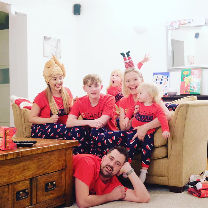 Letters Pattern Watermelon Prints Family Pajamas
