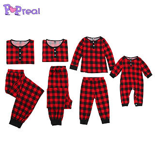 Plaid Color Block Family Pajamas