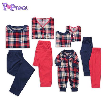 Plaid Color Block Family Pajamas