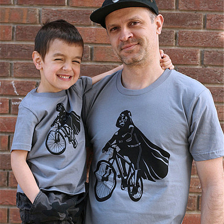 Dad And Me Bicycle Pattern Matching T-Shirt