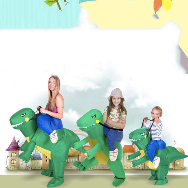 Family Crazy Cartoon Dinosaur Shaped Inflatable Pants