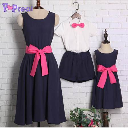 Navy Blue Summer Family Outfits