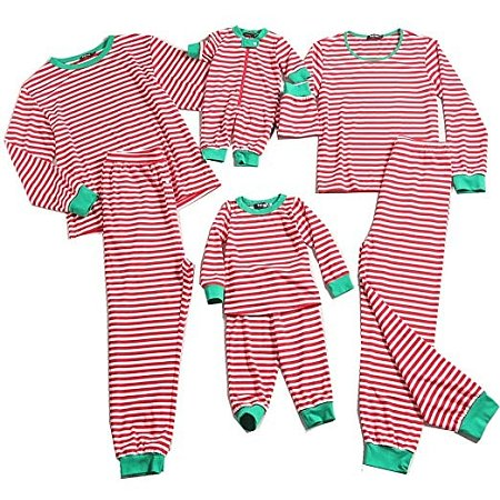 Contrast Striped Family Christmas Pajamas