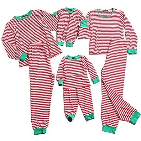 contrast striped family christmas pajamas poprealcom