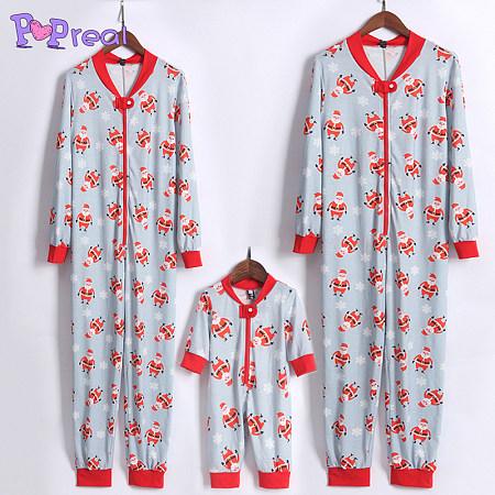 Santa Claus Snow Flakes Patterns Family Christmas Jumpsuits, 3983310