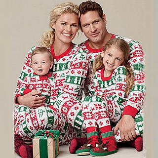 christmas family long sleeve pajamas - Matching Pjs Christmas