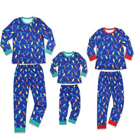 Christmas Lantern Prints Family Pajamas