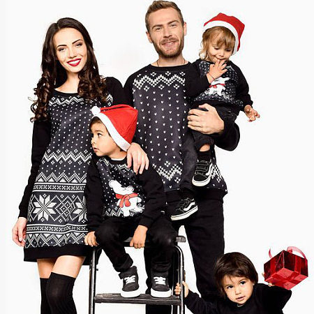 Christmas Geometric Pattern Family Outfits, 5546429