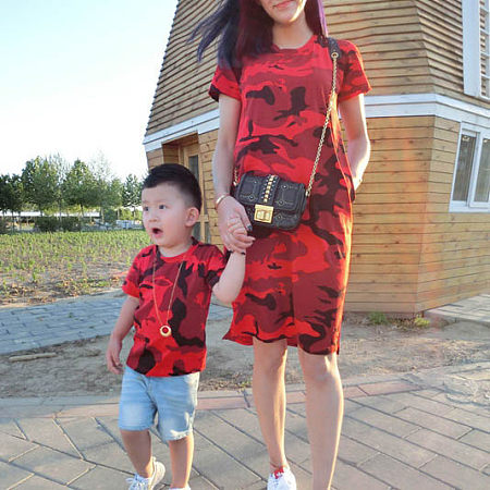 Camouflage Pattern Matching Family Outfits, 6322110
