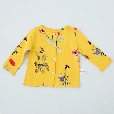Floral Prints Butterfly Pattern Cardigan