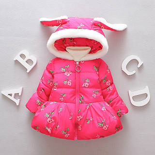 Cute Bunny Ears Thickened Hooded Coat
