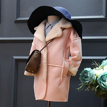 Turn-Down Collar Thickened Suede Coat