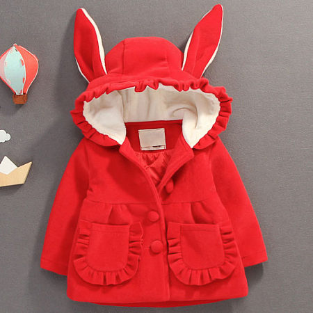 Bunny Ear Button Stringy Selvedget Hooded Outerwear