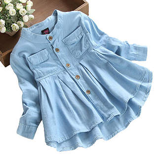 Solid Collar Button Pleated Jacket