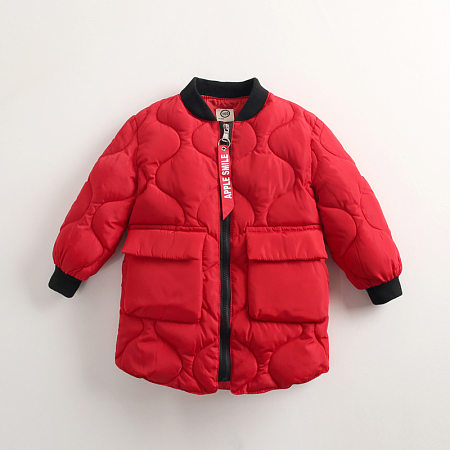 Solid Color Big Pocket Zipper Outerwear
