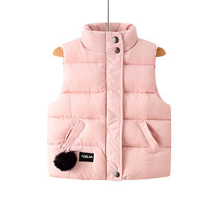 Pompon Decorated Zipper Waistcoat