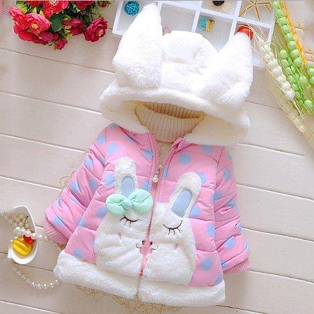Plush Bunny Bowknot Outerwear