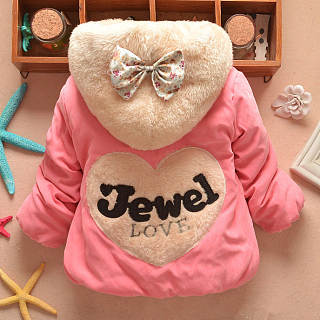 Plush Hooded Bowknot Decorated Outerwear
