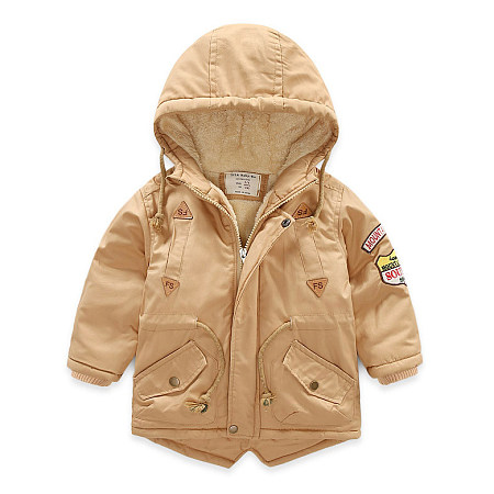 Buy Cartoon Pattern Hooded Thickened Outerwear, beige, JM17101603 for $23.91 in Popreal store