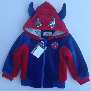 Cartoon Hooded Thickened Zipper Jacket