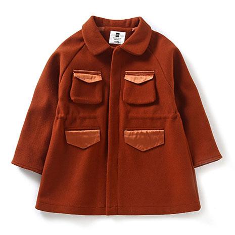 Turn-Down Collar Deer Pattern Outerwear