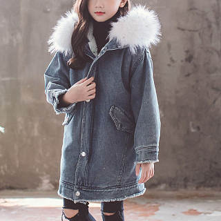Hooded Letter Pattern Thickened Coat