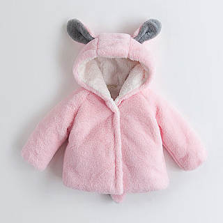 Cartoon Ear Thickened Coat