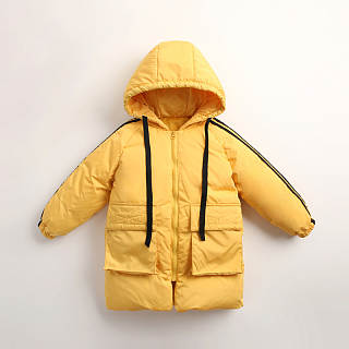 Drawstring Hooded Zipper Coat