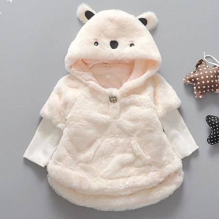 Cute Plush Bear Hoodie Coat