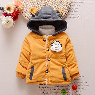 Monkey Pattern Small Ears Thickened Coat